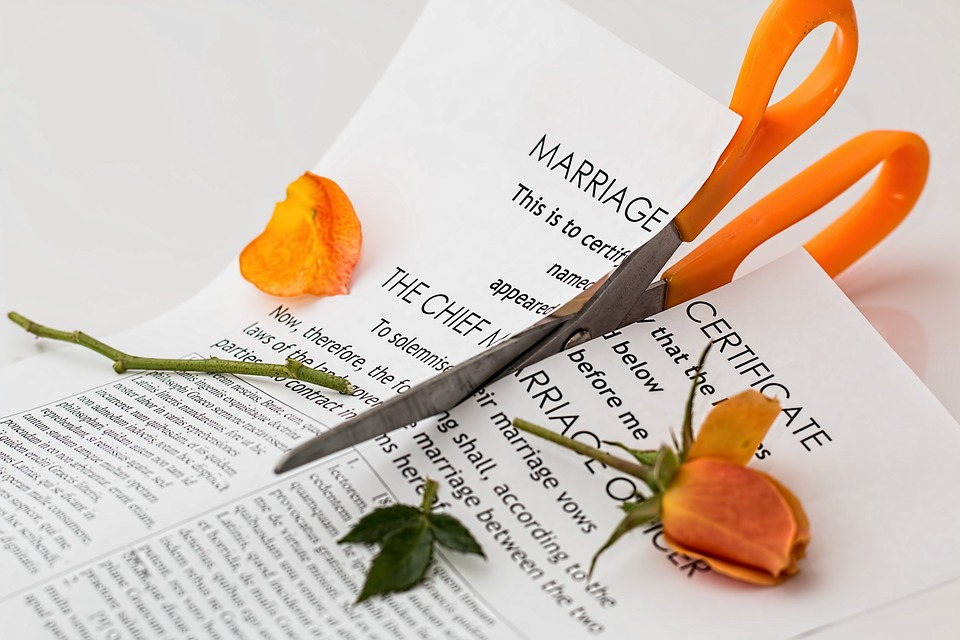 comedy script about divorce